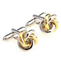 China Gold/Antiqued Knot Cufflinks on sale