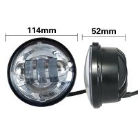 4.5 Inch Harley Davidson Without Angel Eyes Of 30w Vehicle Light Bars With Aluminum Material Housing Manufactures