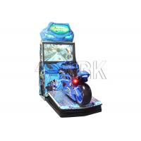 China Crazy electronic coin operated motorcycle car racing game machine for sale on sale
