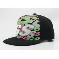 4 Color Embroidery Printed Baseball Caps Snapback With Front Logo Manufactures