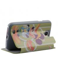 Handmade Cartoon Samsung Leather Phone Cases , Ultra-thin Phone Wallet Pouch Manufactures