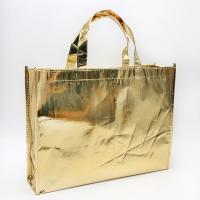 Promotional PP non woven golden aluminum foil Eco-friendly  carry sewing bag Manufactures