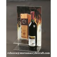 Plexiglass Products Clear Acrylic Wine Holder With Poster Holder Manufactures