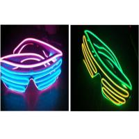 Sound Activated Light Up Double EL Wire Sunglasses / Illuminati Glasses Flashing Manufactures
