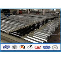 Low Voltage tapered steel pole , galvanized metal posts with Bituminous Painting Manufactures