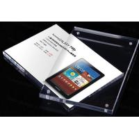 A4 Size Clear Insert Decca Clear Plastic Display Stands Holder Advertising Manufactures