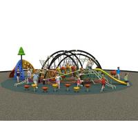 China kids outdoor play zone commercial grade playground equipment on sale