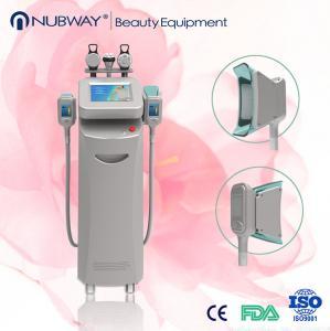 1 cavitation / 2 rf / 2 Cryo handle sliver color fat loss cryolipolysis slimming machine Manufactures