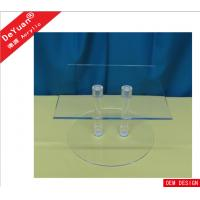 Home Clear Square Acrylic Display Stands With 2pcs Rods , SGS Test Manufactures