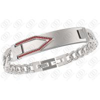 Unisex V Shape Siver Stainless Steel Id Bracelets Germanium And Ndfeb Magnets Manufactures