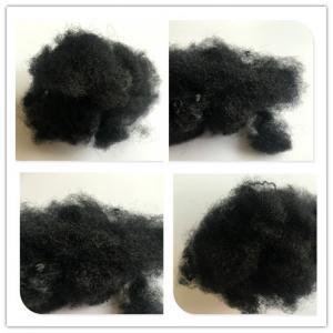 Non Woven Black Polyester Fiber , Pet Staple Fiber 8 Denier X 64 Mm Manufactures