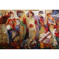 Abstract Painting--Knife Oil Painting Manufactures