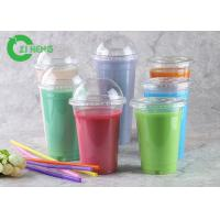 Crystal Versatile Plastic Coffee Cups , 20 Oz Freezer Safe Plastic Smoothie Cups Manufactures