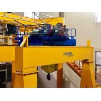 Double Girder Wire Rope Mini Electric Hoist / Winch With Trolley In Yellow Manufactures