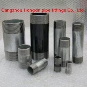 China Short threads pipe nipples, barrel nipples on sale