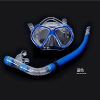 blue Super cheap Rubber mask diving mirror snorkeling equipment Diving mirror and snorkel Manufactures