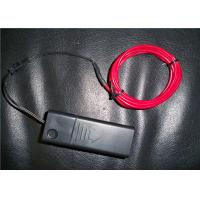 Energy - saving Red Color EL Lighting Wire With 1.4mm / 2.3mm / 3.2mm Diameter Manufactures
