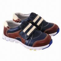 Children's sports shoes for boys, fashionable design, made of imported cow leather  Manufactures