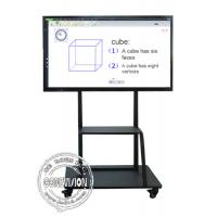 China Mobile Stand Electronic IR Interactive Whiteboard 4K Touch Screen Android and Windows Systems on sale