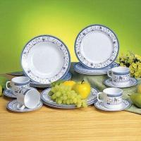 Melamine Dinner Set, Pure White Color and Customized Designs, Sizes and Shapes Available Manufactures