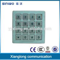 Industrial keypad 16 keys button pin pad/small keypad for door access control B37 Manufactures