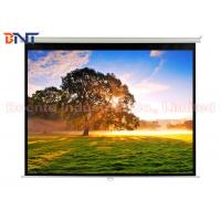 Matte White Manual Projection Projector Screen 100 Inch for Office / Home Manufactures