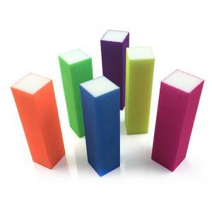 Cuboid Block 3 Way Sanding Nail Files&Nail Buffer Colorful Sanding Polishing Block Nail Art Buffer Manufactures