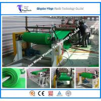 China Plastic Artifical Grass Mat Making Machine with 100% Recycled LDPE Materials on sale