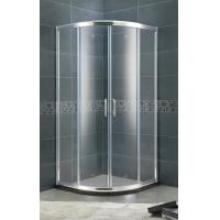 Aluminum Alloy Setor Shower Stalls 6 MM Clear / Forsted Tempered Glass With Bright Silver Profiles Manufactures