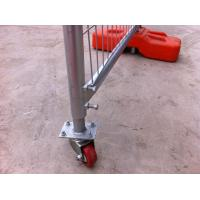 Portable Construction Fence Secure Temporary Fencing With Locking Lock / Rubber Rollers Manufactures