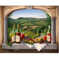 China Oil Painting By Number 40x50cm Still Life Fruit and Wine hand painted canvas oil painting on sale