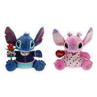 Green and Pink Valentine Day Stitch and Angel Plush toys Super Soft Material Manufactures