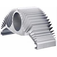 Silver Anodize Extruded Aluminum Heat Sink High Efficiency Heat Dissipation For Motor Housing Manufactures