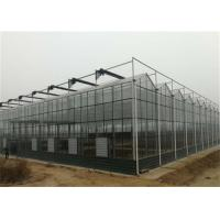 China 4m Section Width Glass Greenhouse Kit , Greenhouse System For Fruit Seedlings on sale