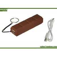 Universal Chocolate Mobile Portable Charger Power Bank 2600mAh , High Speed Cell Phone Charger Manufactures