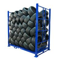 China Warehouse Foldable Stack Portable Steel Storage Tire Pallet Racking/Rack on sale