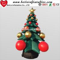 Hot Sale inflatable Christmas Decoration tree with Christmas Ball Jingling Bell Manufactures