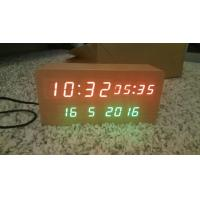 China wood alarm azan clock quran speaker on table clock inside 8GB TF card Arabic languages with IR control on sale