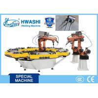 HWASHI Six Axis MIG Industrial Welding Robots with Rotate Welding Table Manufactures