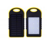 Quality PVC Fun Electronic Gifts Waterproof  6000mah Solar Power Bank With LED Lighting for sale