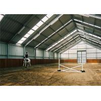China Portable Prefab  Steel Farm Sheds Metal Horse Barn Kit Customized Size / Color on sale