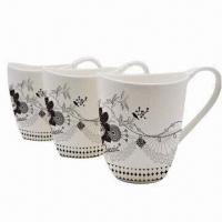 Promotional bone China porcelain cups, customized logos and colors are accepted Manufactures