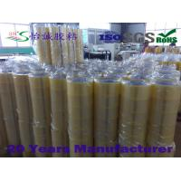 Quality 52mm Wide Yellowish Transparent Packing tape , Good Retention Force for sale