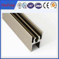 aluminum profile for wardrobe door supplier, polished aluminum extrusion profiles Manufactures