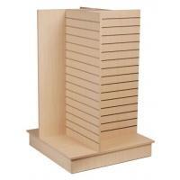 Durable Wood Slatwall Display Rack Shelf Stand For Pharmacy Manufactures