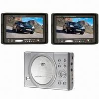 China 7-inch Dual-headrest Monitor DVD Player with Game, 500TVL Resolution on sale