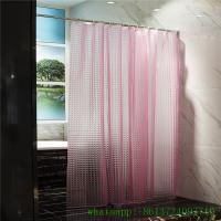 Quality A023 3d effect cube cat eye eva peva shower curtain no toxic in clear pink blue for sale