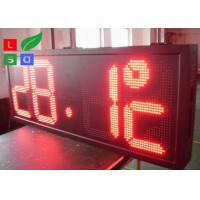 P10 Red LED Time And Temperature Programmable Digit Signs Auto Dimming By Sensor Manufactures