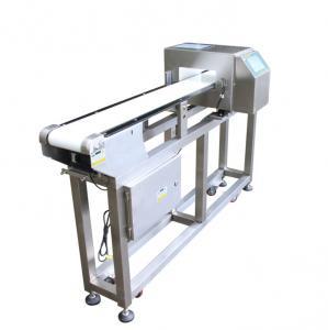 Customized Adjustment Belt Conveyor Metal Detectors Touch Screen For Food Industry