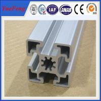 supply aluminum extruded profile,  clear sliver t-slot anodized aluminum profile supplier Manufactures